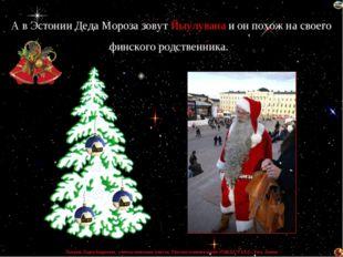 А в Эстонии Деда Мороза зовут Йыулувана и он похож на своего финского родстве