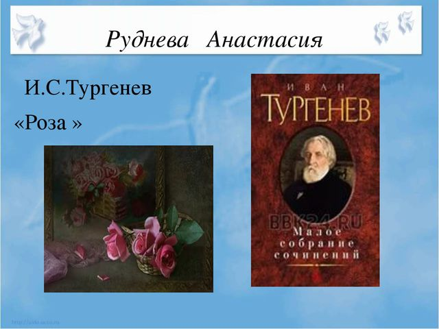 Руднева Анастасия И.С.Тургенев «Роза »