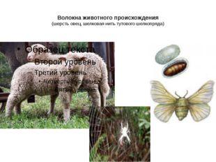 Волокна животного происхождения (шерсть овец, шелковая нить тутового шелкопря