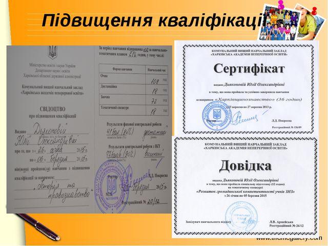 Підвищення кваліфікації www.themegallery.com