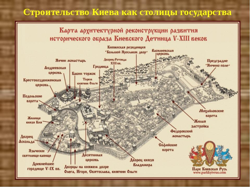 Строительство Киева как столицы государства