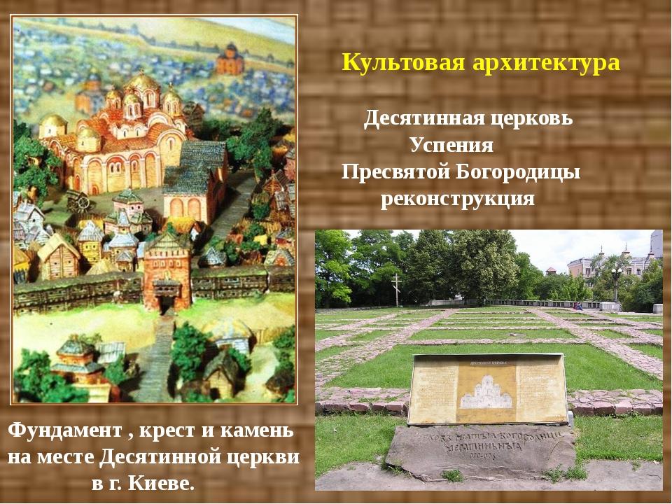 Культовая архитектура Десятинная церковь Успения Пресвятой Богородицы реконс...