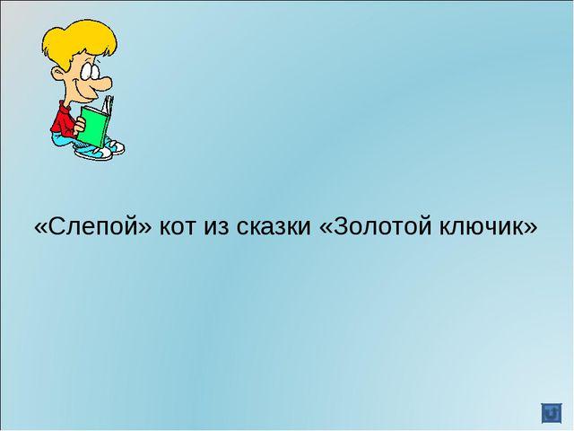 «Слепой» кот из сказки «Золотой ключик»