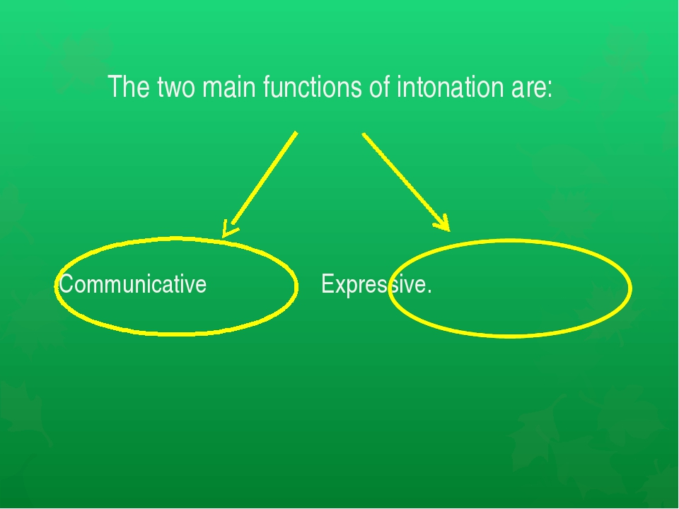 The two main functions of intonation are: Communicative Еxpressive.