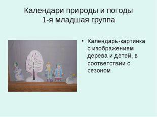 Календари природы и погоды 1-я младшая группа Календарь-картинка с изображени