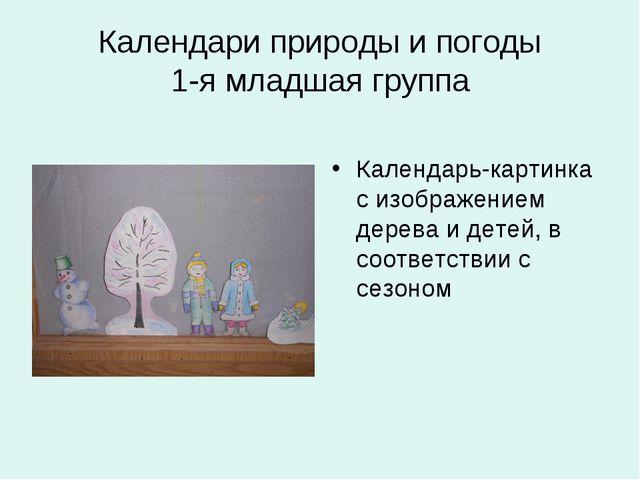 Календари природы и погоды 1-я младшая группа Календарь-картинка с изображени...