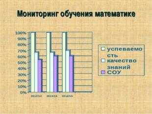 Мониторинг обучения математике