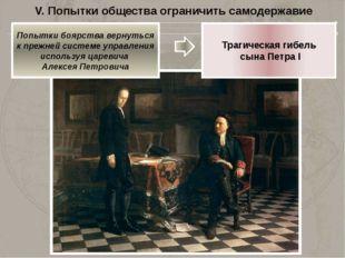 V. Попытки общества ограничить самодержавие 1730 год – члены Верховного тайно