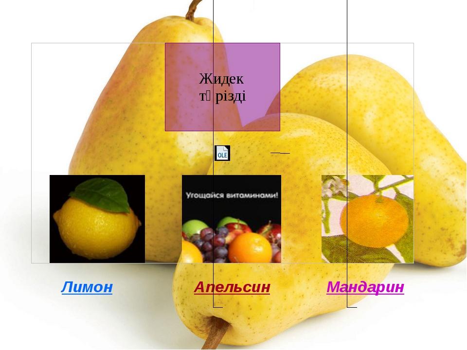 Лимон Апельсин Мандарин