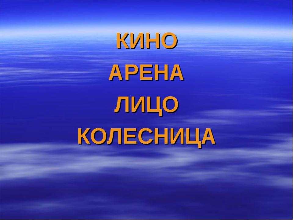 КИНО АРЕНА ЛИЦО КОЛЕСНИЦА