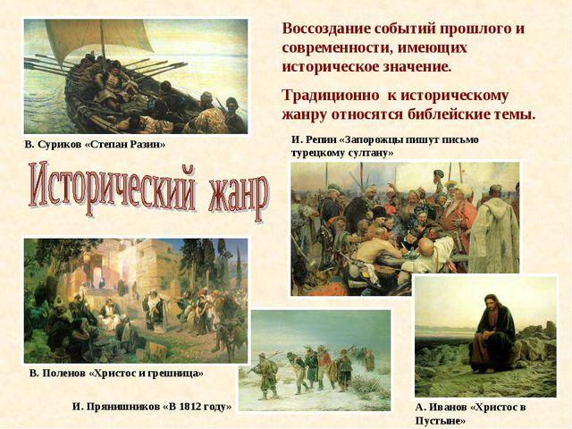 Воссоздание событий прошлого и современности, имеющих историческое значение....