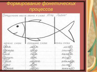 Формирование фонетических процессов