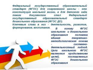 Федеральный государственный образовательный стандарт (ФГОС) для современной ш