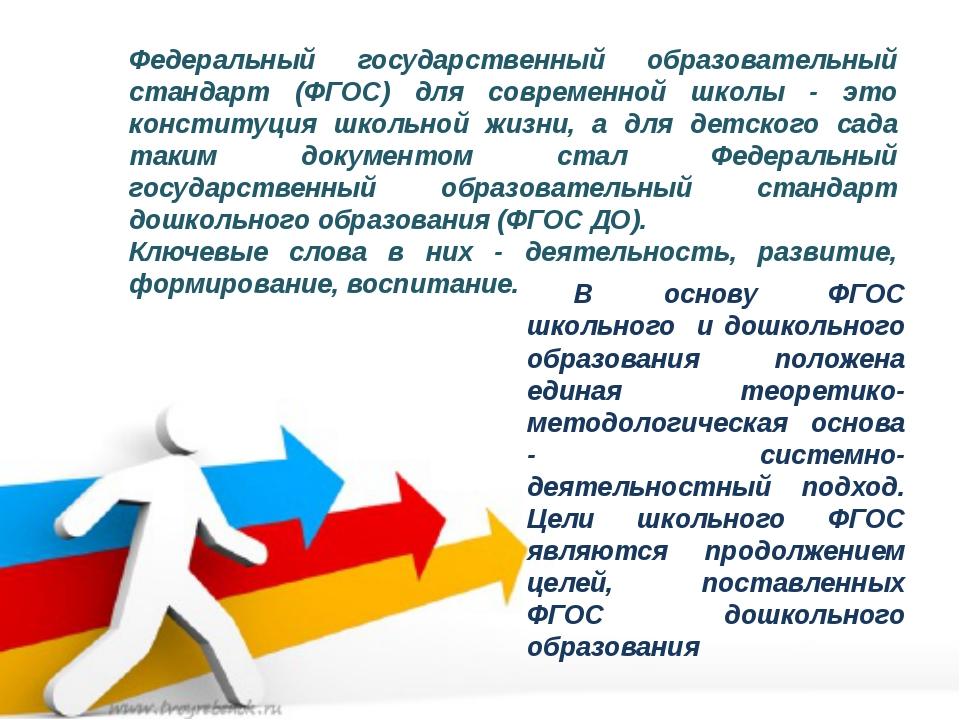 Федеральный государственный образовательный стандарт (ФГОС) для современной ш...