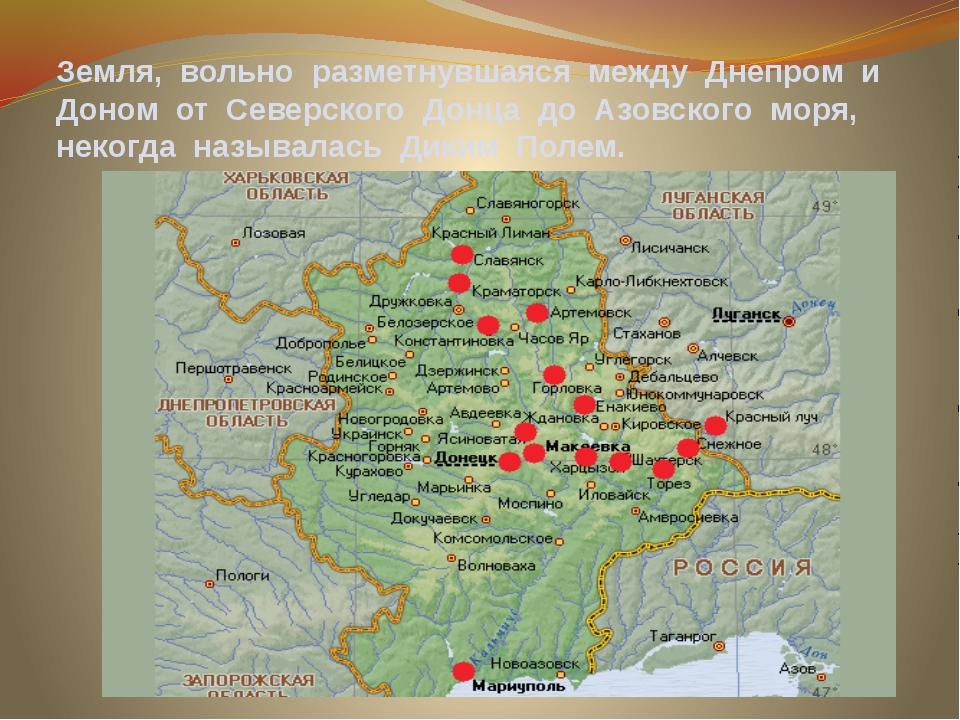 Земля, вольно разметнувшаяся между Днепром и Доном от Северского Донца до Азо...