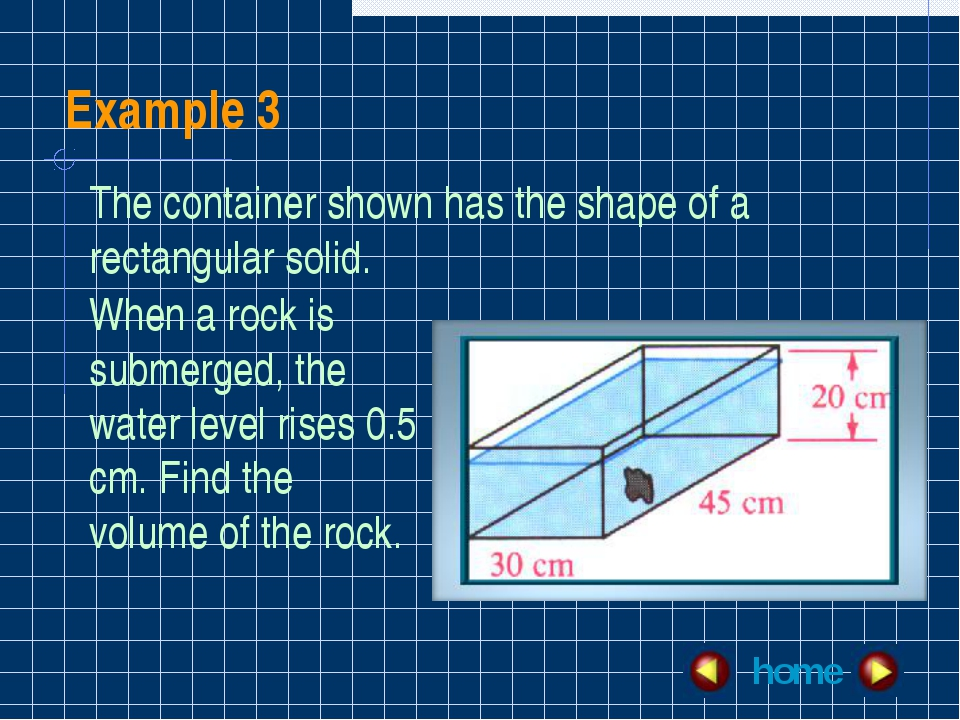 Example 3 home The container shown has the shape of a rectangular solid. When...