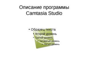 Описание программы Camtasia Studio