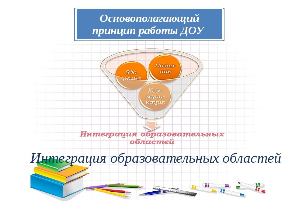 ИНТЕГРАЦИЯ предполагает объединение нескольких образовательных областей в одн...