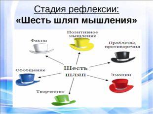 Стадия рефлексии: «Шесть шляп мышления»