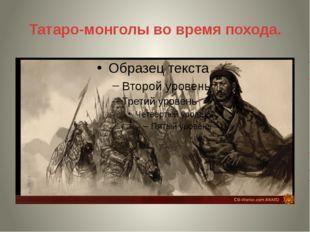 Татаро-монголы во время похода.
