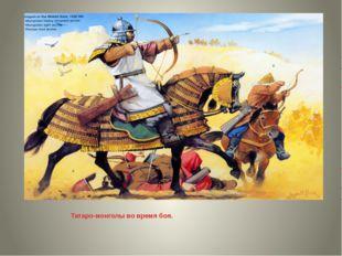 Татаро-монголы во время боя.