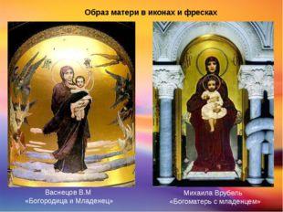 Образ матери в иконах и фресках ВаснецовВ.М «Богородица и Младенец» Михаила