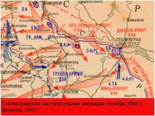 Сталинградская наступательная операция. Ноябрь 1942 г. - февраль 1943 г
