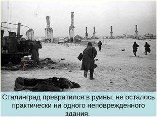 Сталинград превратился в руины: не осталось практически ни одного неповрежден