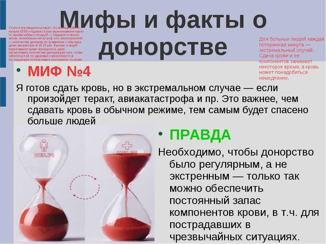 Мифы и факты о донорстве Мифы и факты о донорстве МИФ №4 Я готов сдать кровь,...