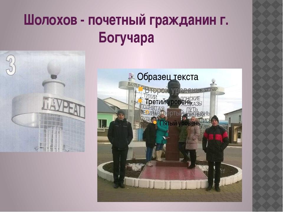 Шолохов - почетный гражданин г. Богучара