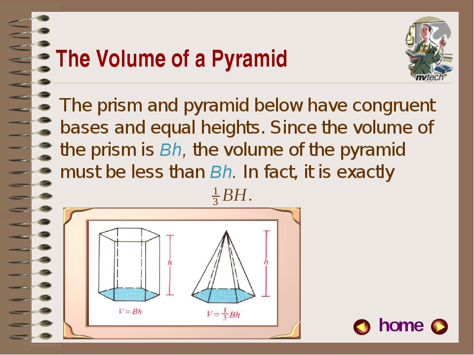 The Volume of a Pyramid home