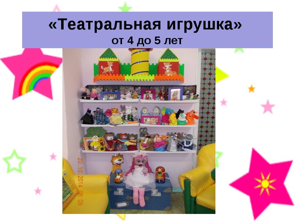 «Театральная игрушка» от 4 до 5 лет