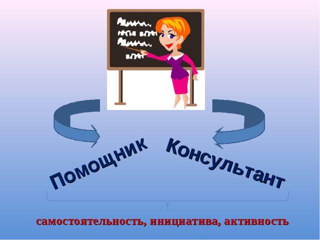 Помощник Консультант самостоятельность, инициатива, активность