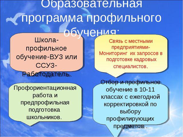 Профориентационная работа и предпрофильная подготовка школьников. Школа-профи...