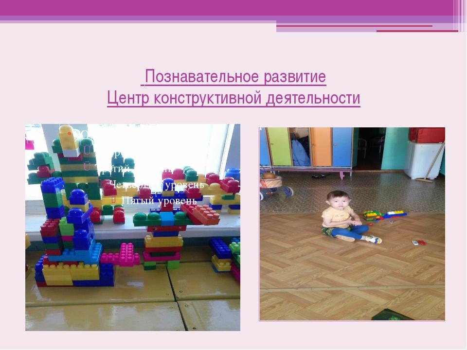Познавательное развитие Центр конструктивной деятельности