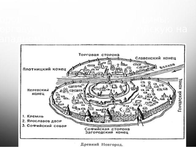 Город разделился на две половины: Торговую на восточном и софийскую на западн...