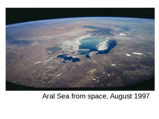 Aral Sea from space, August 1997