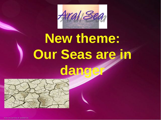 New theme: Our Seas are in danger