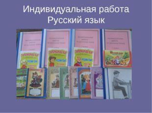 Индивидуальная работа Русский язык