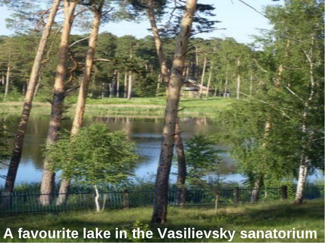 A favourite lake in the Vasilievsky sanatorium