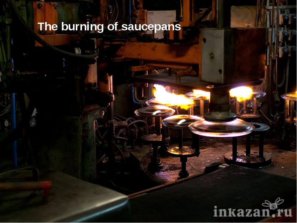 The burning of saucepans