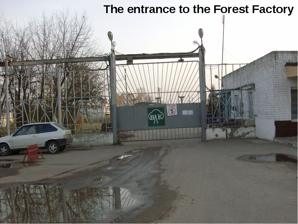 The entrance to the Forest Factory