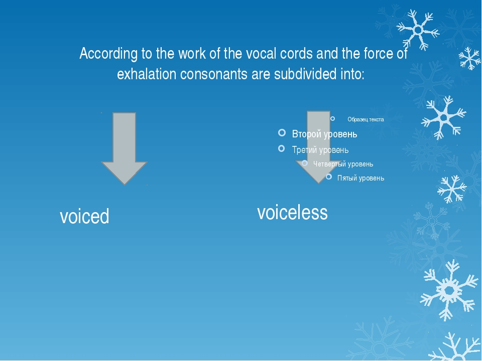 According to the work of the vocal cords and the force of exhalation consona...