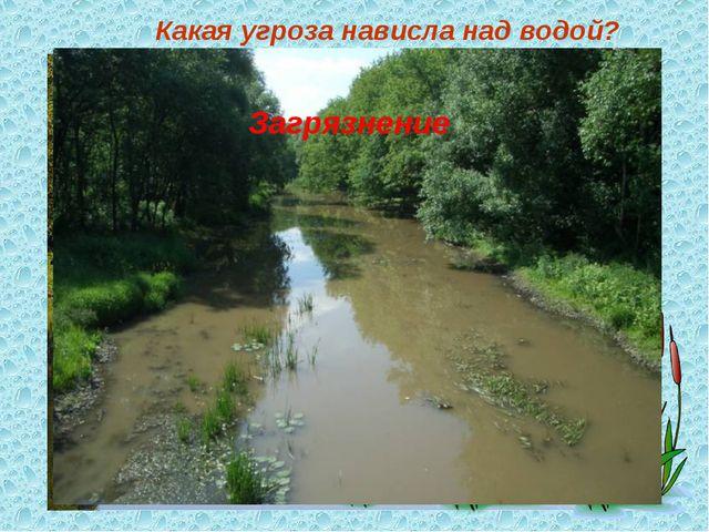 Какая угроза нависла над водой? Загрязнение