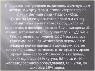 Январское наступление выдохлось в следующем месяце. К марту фронт стабилизиро