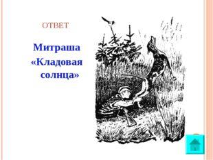 ОТВЕТ Митраша «Кладовая солнца»