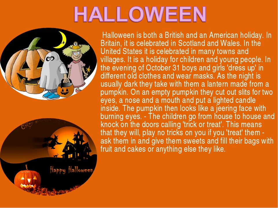 Halloween is both a British and an American holiday. In Britain, it is celeb...