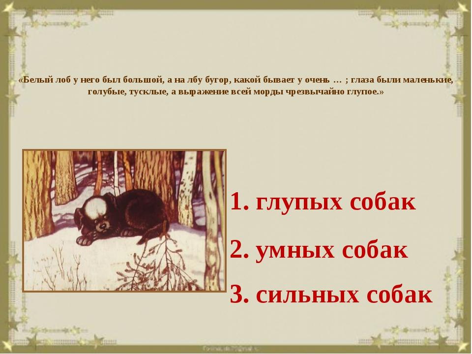 «Белый лоб у него был большой, а на лбу бугор, какой бывает у очень … ; глаза...