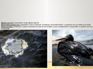 Проблема № 5: загрязнение гидросферы нефтью. Источники проблемы: крушение суд
