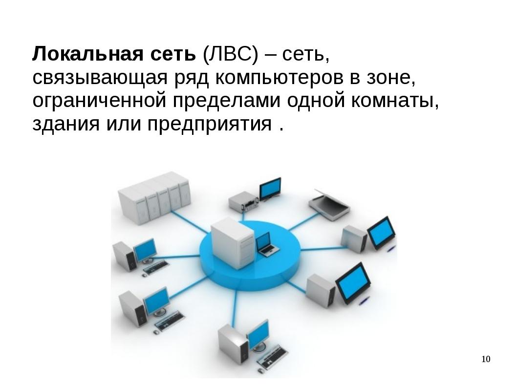 Локальная сеть (ЛВС) – сеть, связывающая ряд компьютеров в зоне, ограниченной...